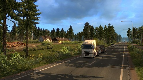 Скриншот Euro Truck Simulator 2 - Beyond the Baltic Sea №1